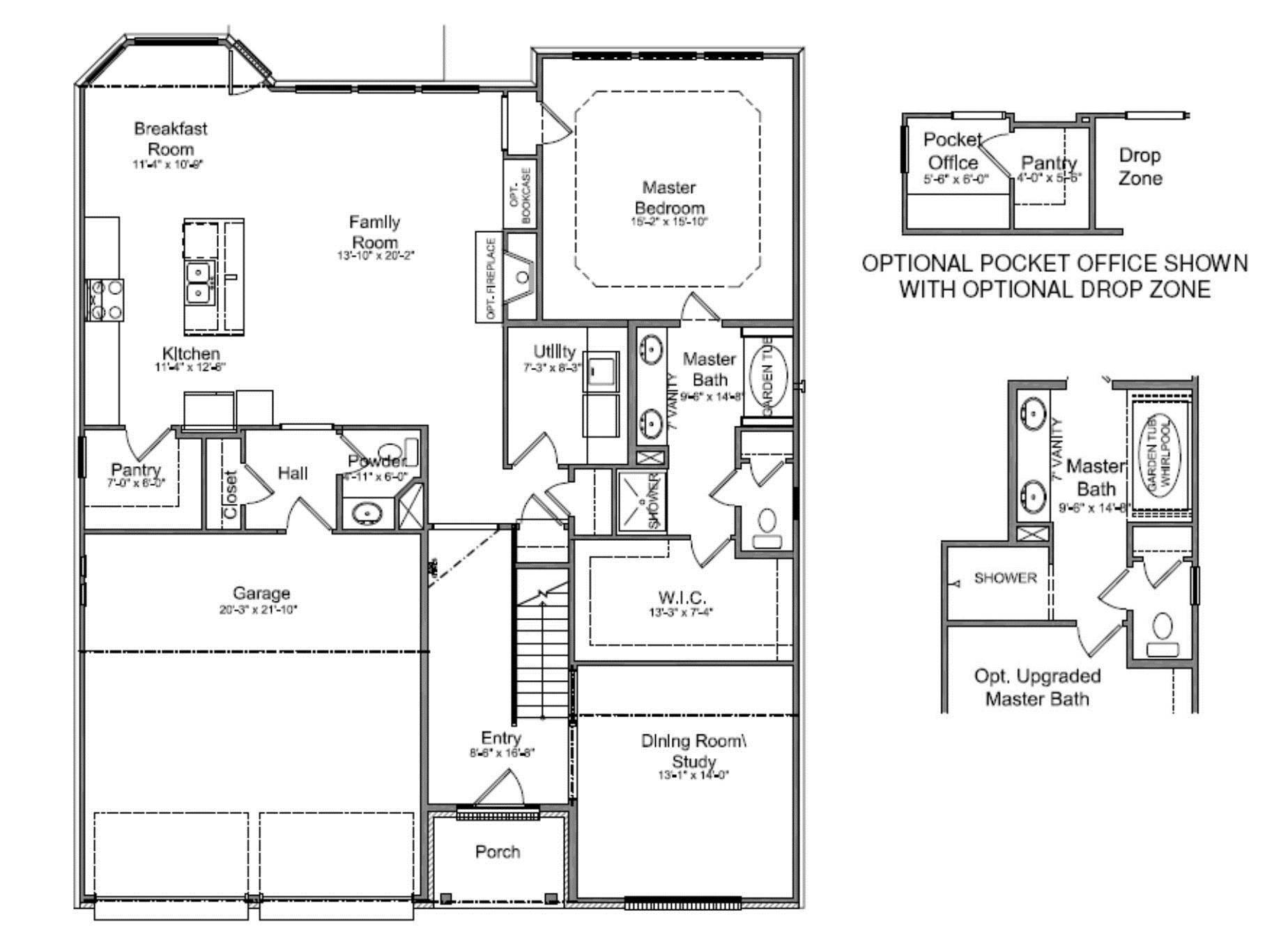 Closet Floor Plans First Master Suite