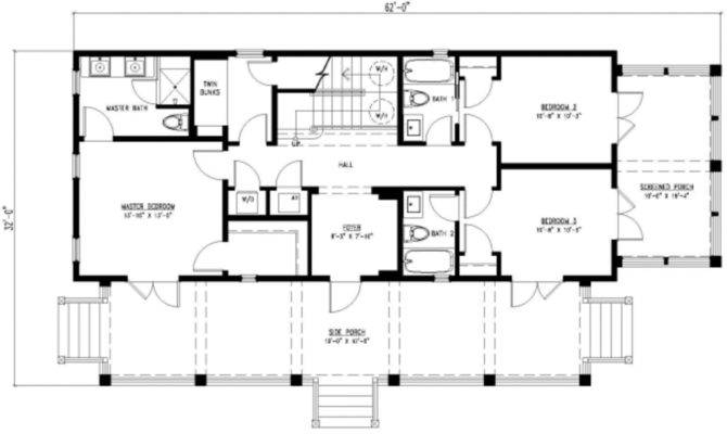 Beach Beds Baths Plan Main Floor
