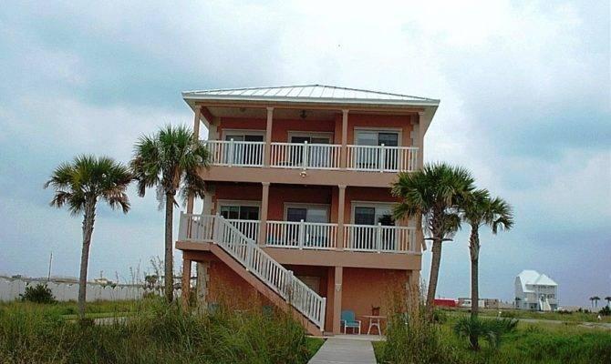 Beach Home Plans Pilings House