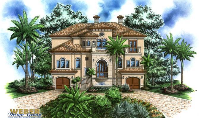 Beach House Plan Coastal Mediterranean Style Home Floor