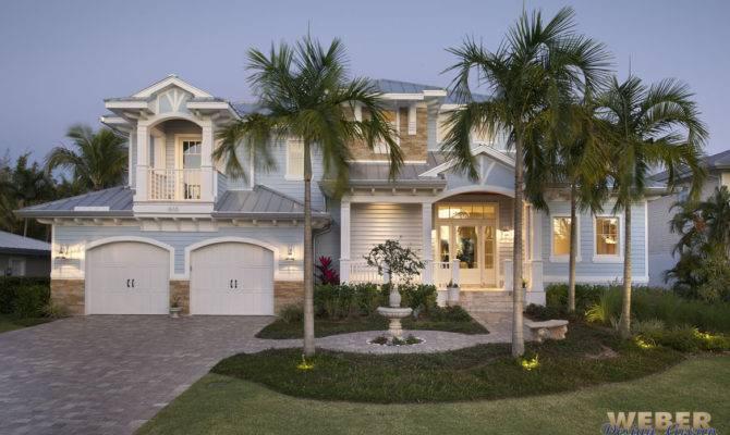Beach House Plan Coastal Waterfront Home Floor Story