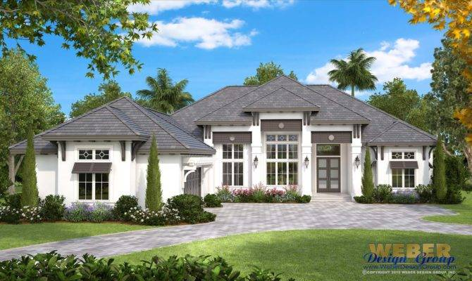 Beach House Plan Coastal West Indies Style Home Floor