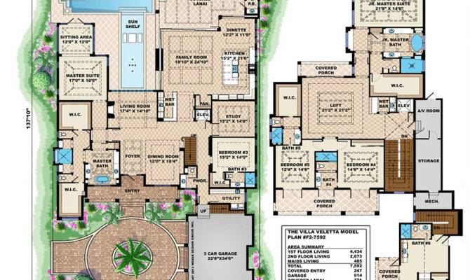 Beach House Plan Contemporary Caribbean Waterfront Home