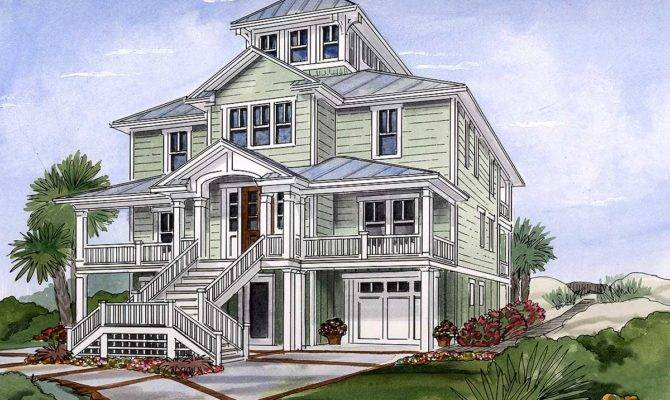 Beach House Plan Cupola Architectural