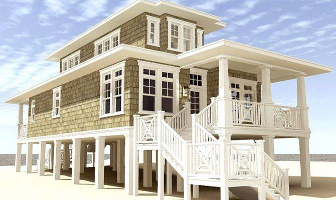 Beach House Plans Narrow Lot Plan