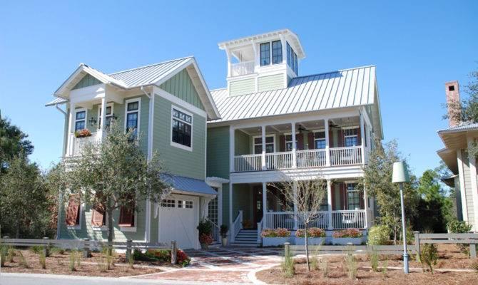 Beach House Watercolor Florida