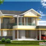 Beautiful Bedroom House Elevation Feet Kerala Home