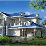 Beautiful Bedroom Villa Exterior Home Kerala Plans