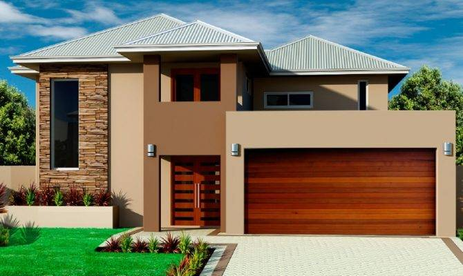 Beautiful Double Storey Houses House Plan Plans