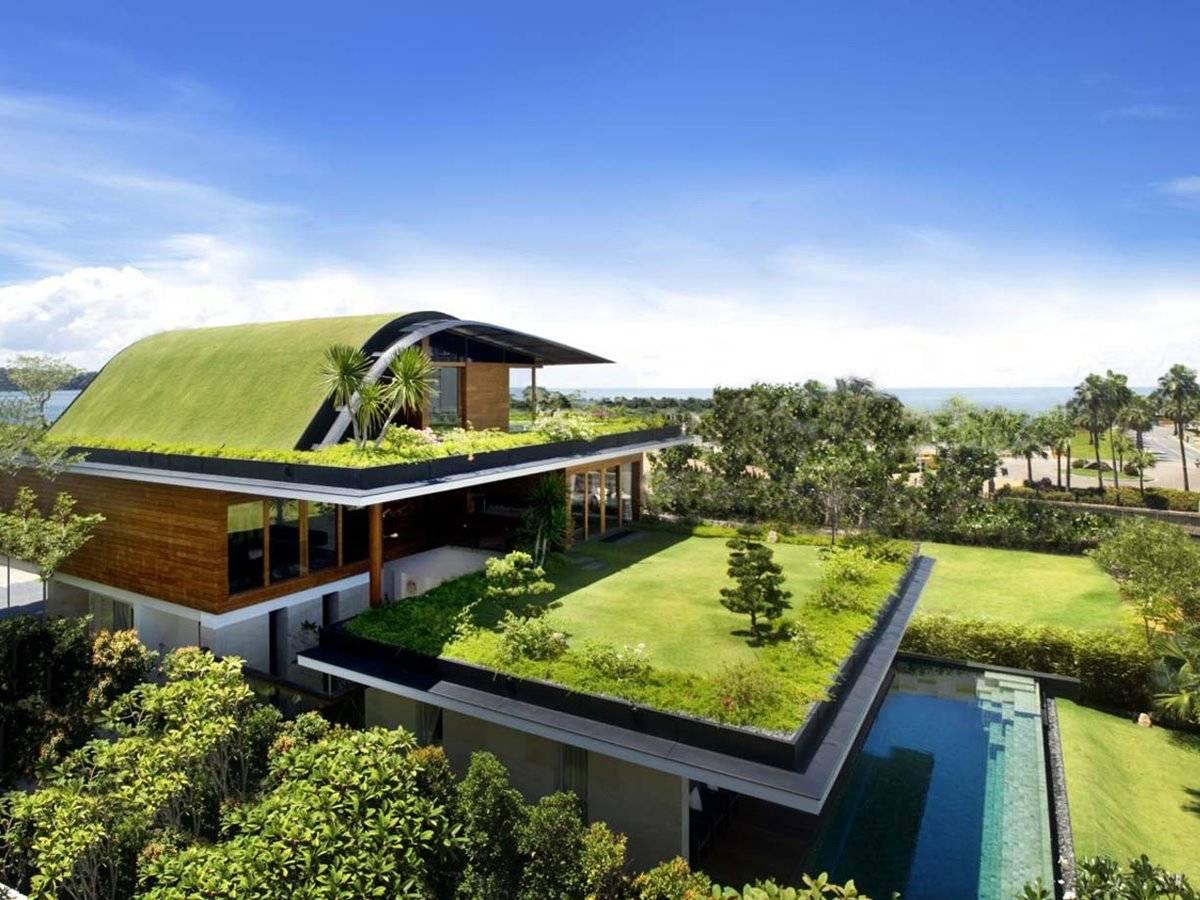 Beautiful Green Roof Design Modern House Home Ideas Home Plans Blueprints 165250
