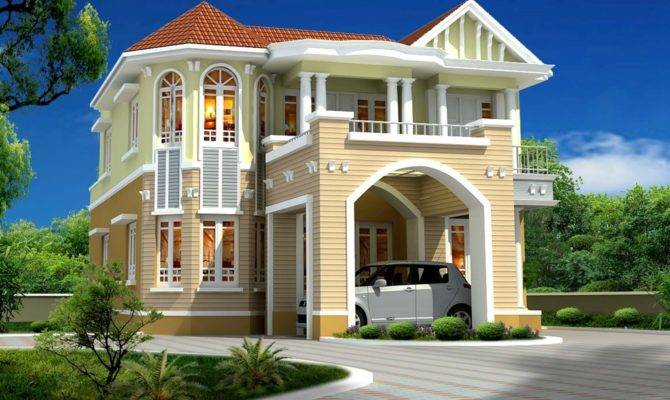 Beautiful House Elevation Designs Kerala Home