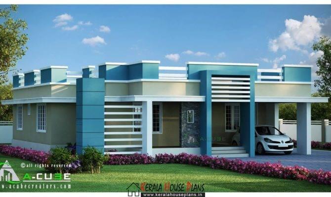 Beautiful Kerala Single Floor Contemporary House Design