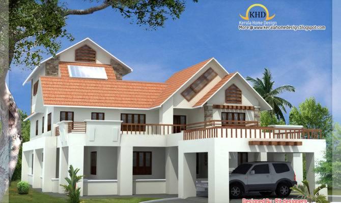 Beautiful Luxury Story Home Elevation Kerala