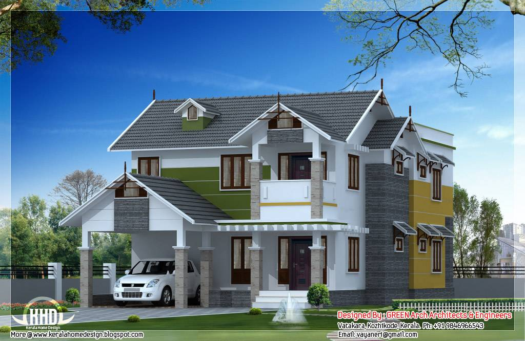 Beautiful Sloping Roof House Design Home Appliance Home Plans Blueprints 90199