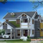 Beautiful Sloping Roof House Design Kerala Home Floor