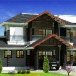 Beautiful Sloping Roof Villa Elevation Design Kerala