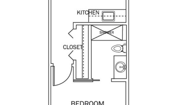 Beautiful Small One Bedroom Apartment Floor Plans Hall