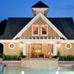 Beautiful Square Foot Barn Style Post Beam Pool House Plan
