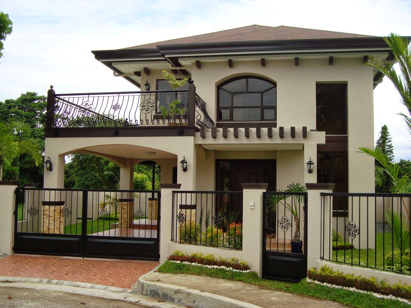 Beautiful Storey House Photos Bahay Ofw Home Plans Blueprints