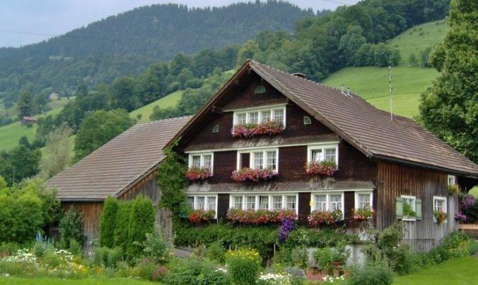 Beautiful Swiss Farm House Chalets Pinterest