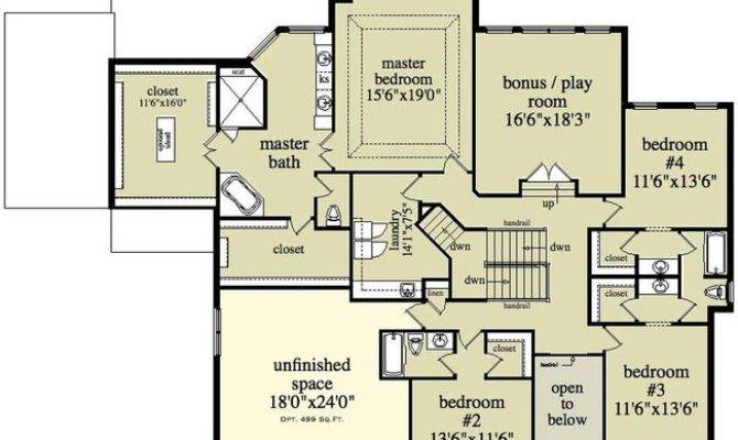 Beautiful Two Story Colonial House Plan Floor Alp