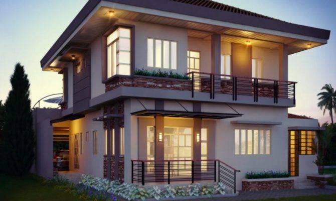 Beautiful Two Story House Balcony Double