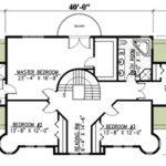 Bed French Chateau House Plan Architectural