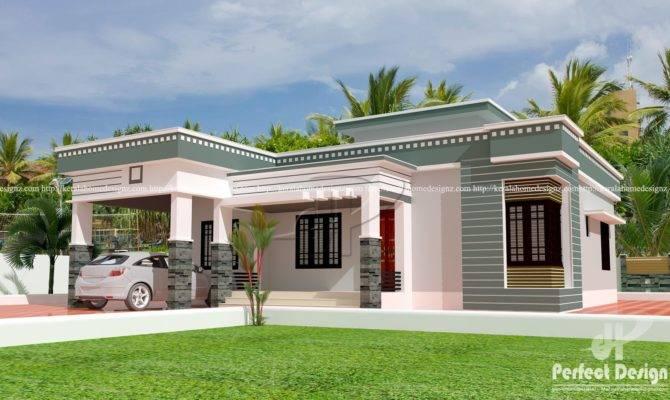 Bed Room Modern Single Floor Home Kerala Design