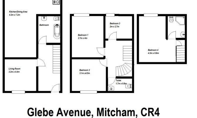 Bed Terraced House Sale Glebe Avenue Mitcham