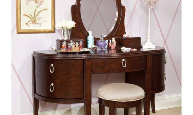 Bedroom Antique Vanity Storage Completing
