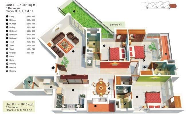 Bedroom Apartment House Plans Home Decorating Guru