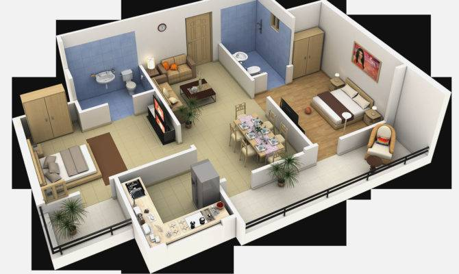 Bedroom Apartmenthouse Plans Inspirations House Interior