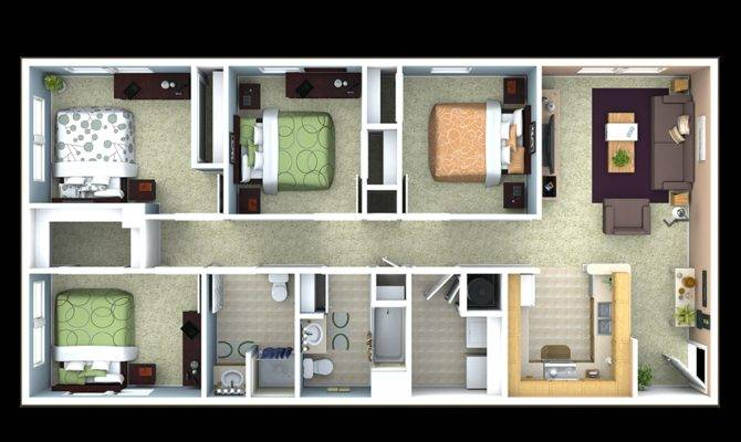 Bedroom Apartments Near House Rent