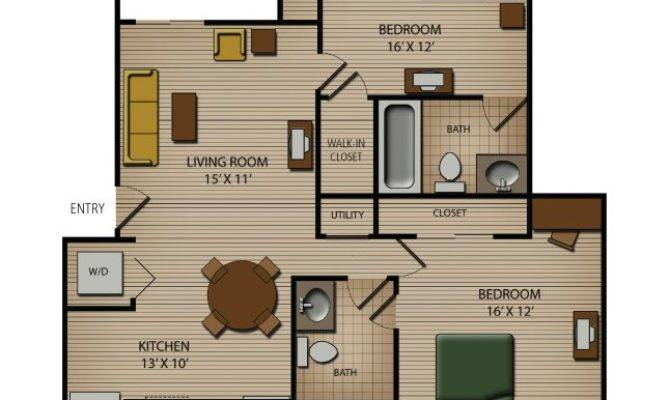 Bedroom Bath Apartments Marceladick