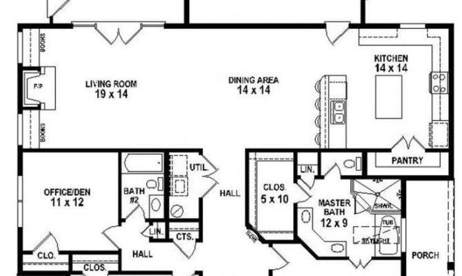 Bedroom Bath House Plans Best Small