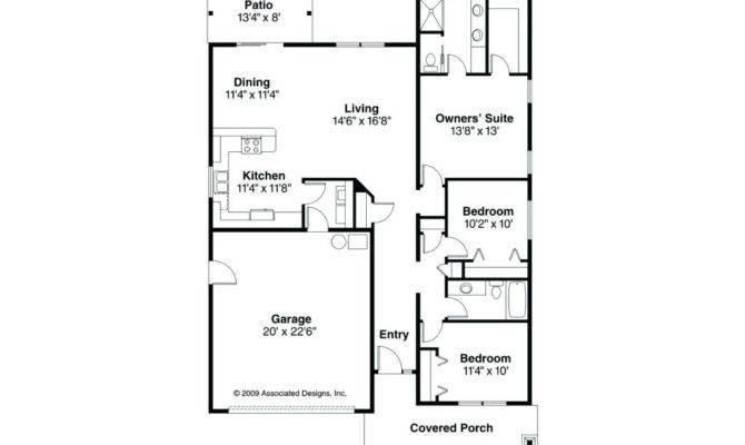 Bedroom Bath House Plans Story Garage