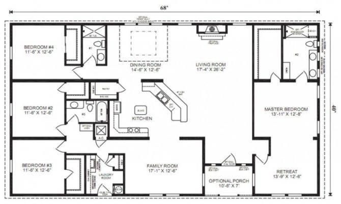 Bedroom Bath Ranch House Plans Savae