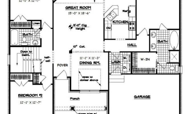 Bedroom Bath Split Floor Plan Savae