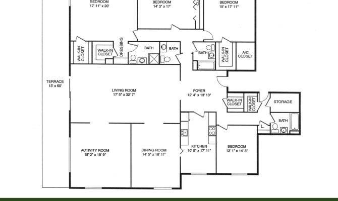 Bedroom Bathroom House Plan Plans