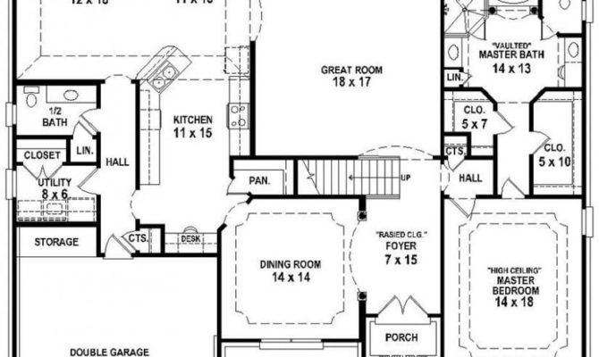 Bedroom Bathroom House Plans Awesome