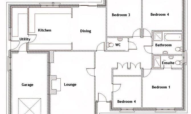 Bedroom Bungalow Floor Plan