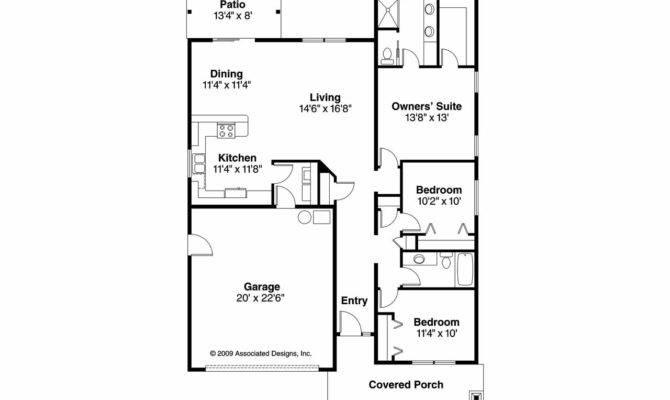 Bedroom Bungalow House Plan Garage Design
