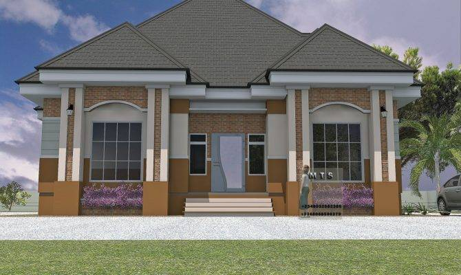 Bedroom Bungalow Residential Homes Public Designs