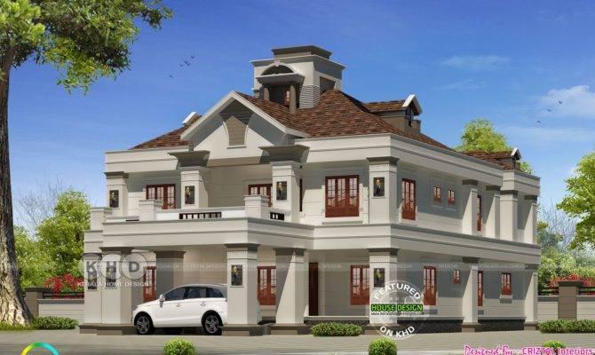 Bedroom Colonial Model Luxury House Kerala Home Design