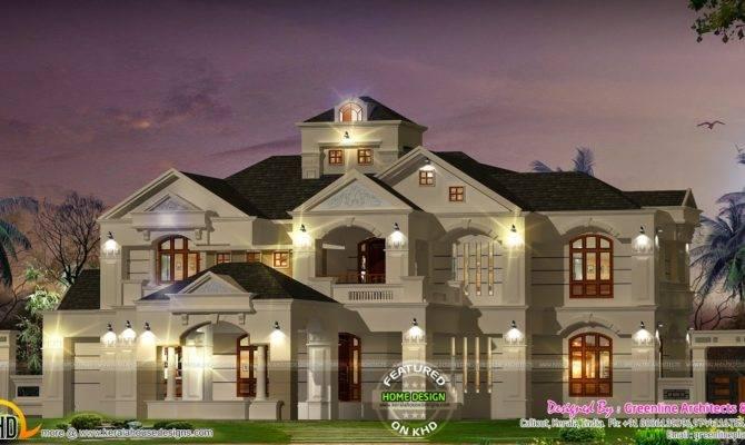 Bedroom Colonial Style Luxury Villa Kerala Home Design