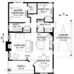 Bedroom Cottage Floor Plans Cabin