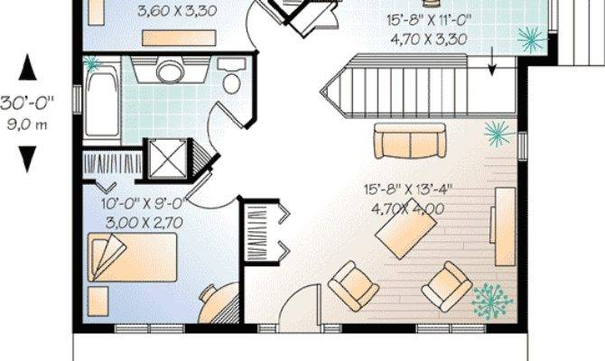 Bedroom Cottage House Plan Architectural