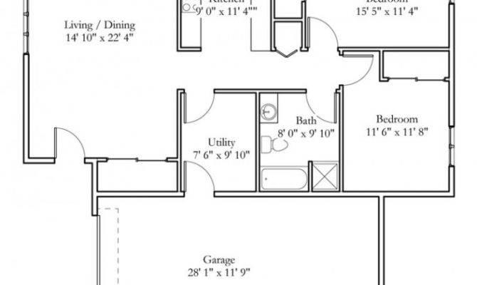 Bedroom Cottage Plans Real Estate