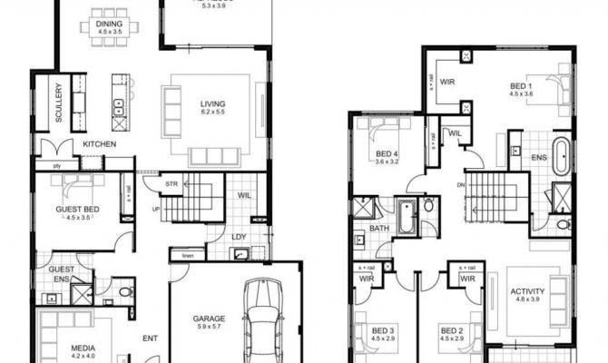 Bedroom Double Storey House Plans Inspirational