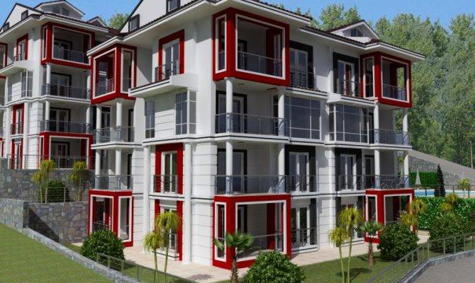 Bedroom Duplex Apartment Megri Teras Block Fethiye
